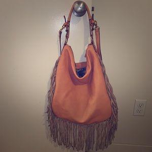 SOLD! handbag with fringe detail